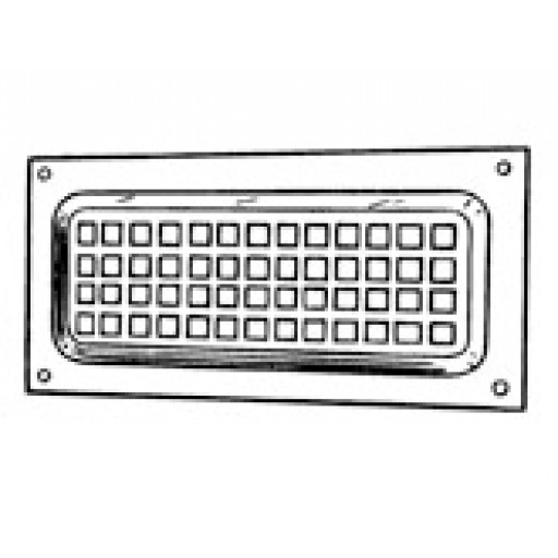 Abey Brick Vent - Flat Face Vent - Small with mesh - 270mm x 125mm - 0425M