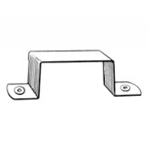 Zincalume Square Down Pipe Clips 100mm x 75mm