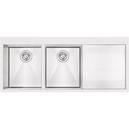 Abey - Lugano Double Bowl Sink Right Hand Bowl
