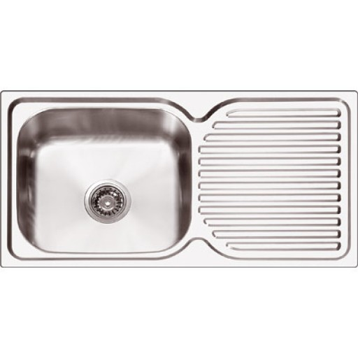 Abey - Project Plus 100 Single Bowl Sink Right Hand Bowl