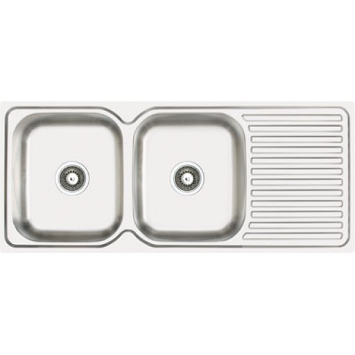 Abey - Project 200 Double Bowl Sink Left Hand Bowl