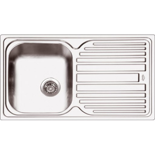 Abey - Deluxe 100 Single Bowl Sink Right Hand Bowl