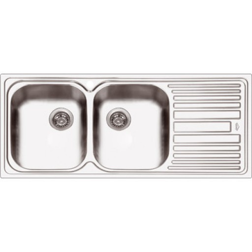 Abey - Deluxe 200 Double Bowl Sink Right Hand Bowl