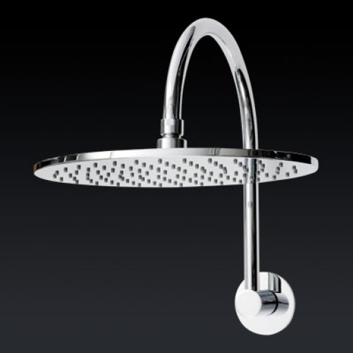 Abey - Round Goose Neck Shower Head 200mm