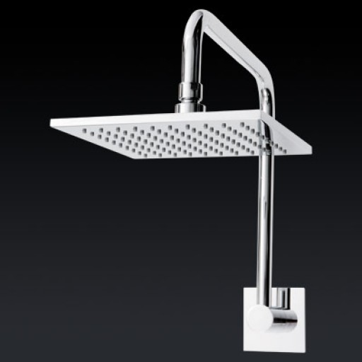 Abey - Square Goose Neck Shower Head 200mm