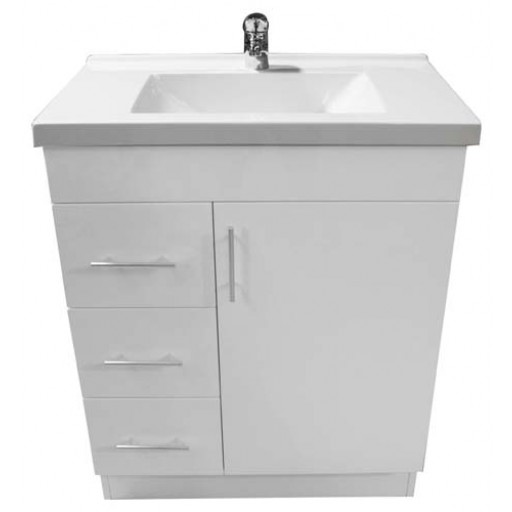Blush 750mm Vanity Unit 3 Tap Hole Left Hand Draws