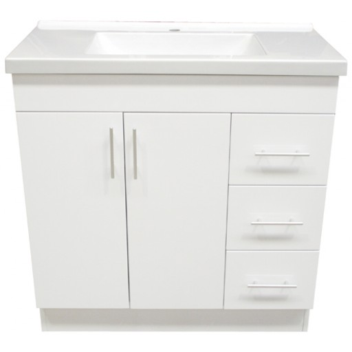 Blush 900mm Vanity Unit 1 Tap Hole Right Hand Draws