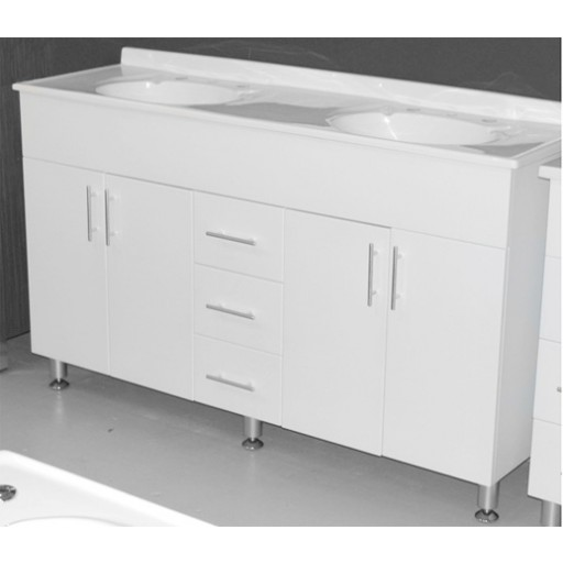 Bonito 1500mm Vanity Unit 3 Tap Hole Kickboard Solid Doors