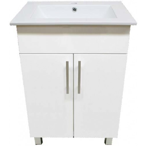 Demeter 600mm Vanity Unit 1 Tap Hole Legs Solid Doors