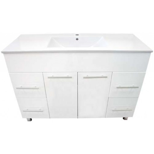 Demeter 1200mm Vanity Unit 1 Tap Hole Kickboard Solid Doors
