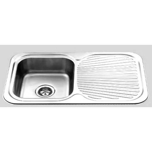 Single Bowl Sink with Drainer Right Hand Bowl