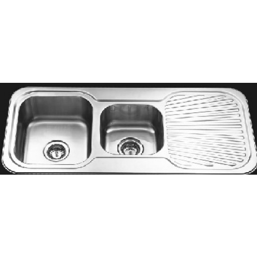 1 & 3/4 Bowl Sink with Drainer Left Hand Bowl
