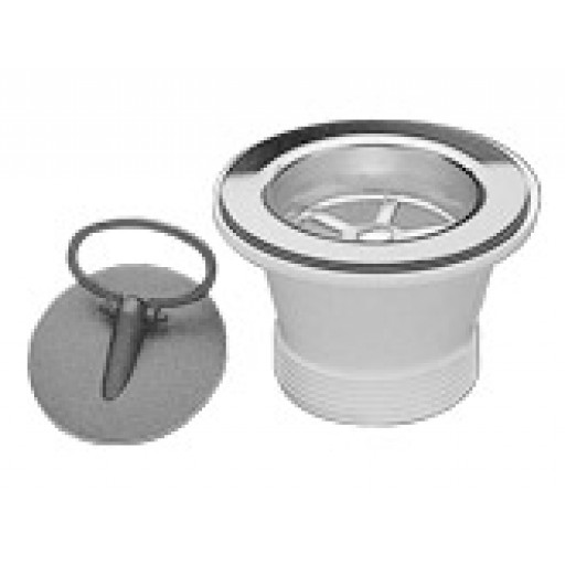 Abey Deluxe Stainless Steel Plug & Waste 50mm