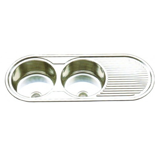 Round Double Bowl Sink NH-717S