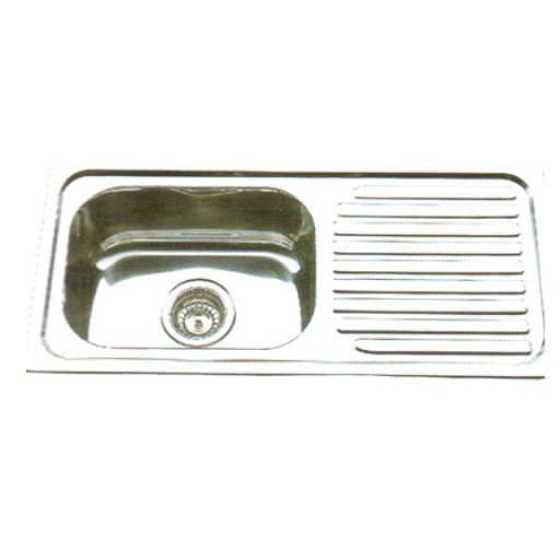 Square Single Bowl Sink with Drainer