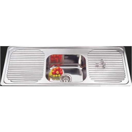 Single Bowl Sink with Double Drainer