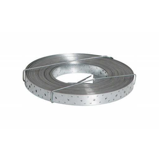 Abey Strapping - Perforated Strapping - Plain - Z600 Galvanised - 30mm x 0.8mm - 15 metres - 0439P