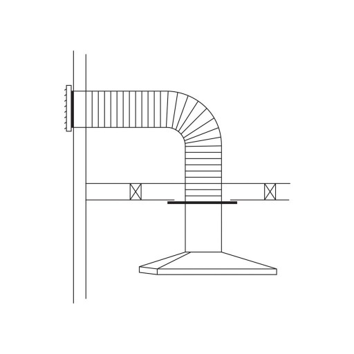 Rangehood Flue Kit - Horizontal