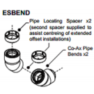 Rinnai - 40/90 degree bend - ESBEND