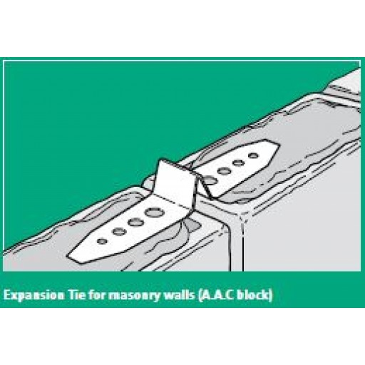 Abey - Expansion Ties for AAC Blockwork - R4 316L Stainless Steel - Box of 20 - 0581